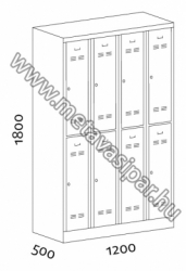KOROS STAR 4/8 divided locker line drawings